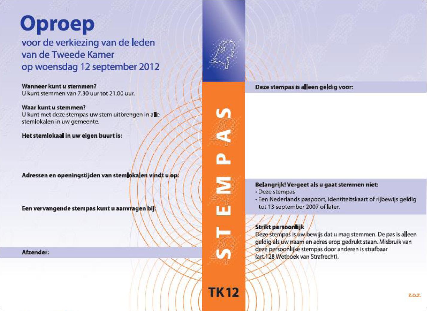 Regeling van de minister van binnenlandse zaken en koninkrijksrelaties van 7 juni 2012 nr 2012 - Voorbeeld van de kamer ...
