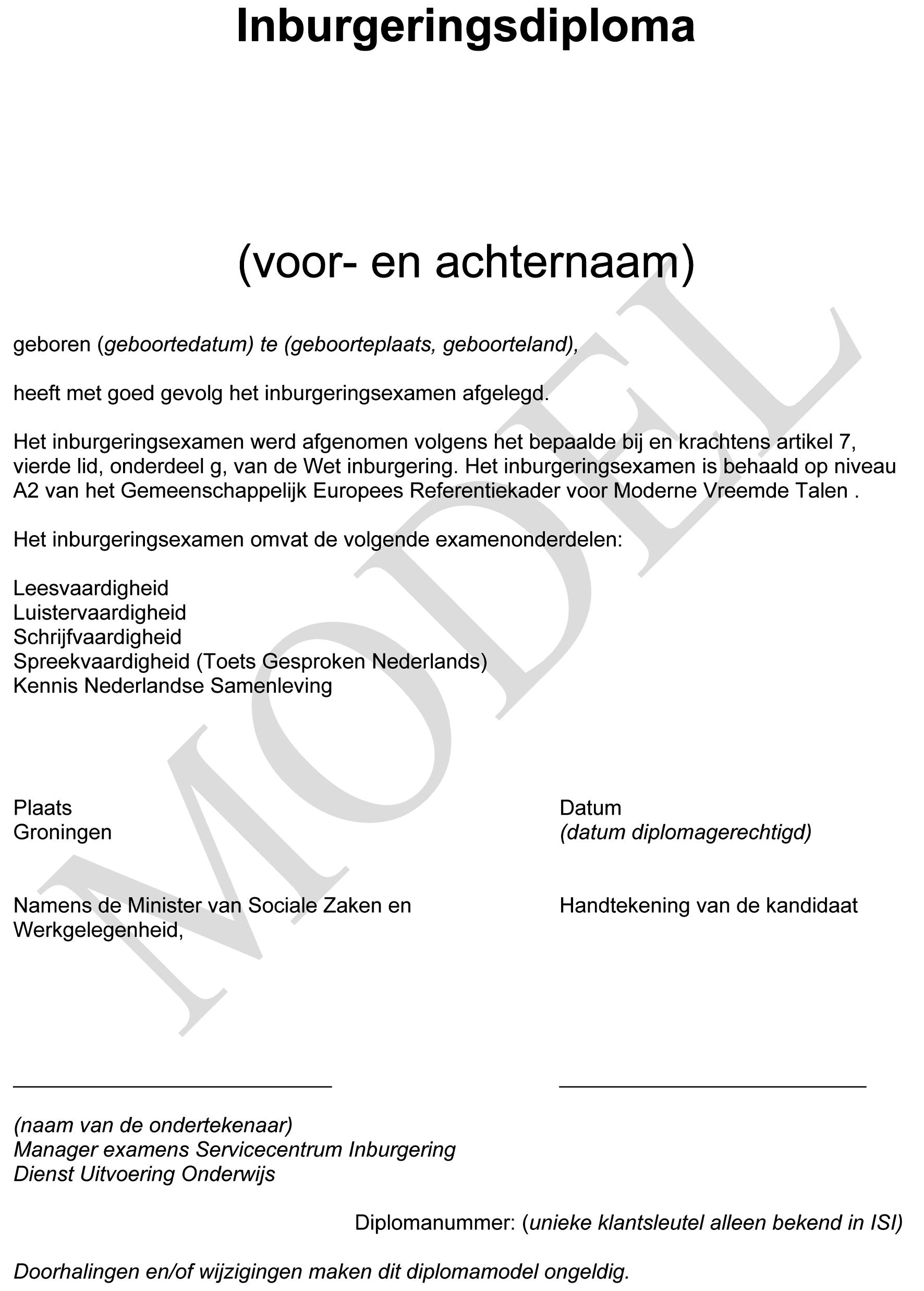voorbeeld sollicitatiebrief nederlands examen Regeling van de Minister van Sociale Zaken en Werkgelegenheid van  voorbeeld sollicitatiebrief nederlands examen